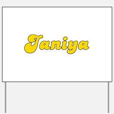 Retro Janiya (Gold) Yard Sign