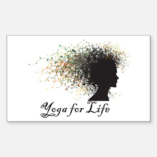 Yoga For Life Rectangle Decal
