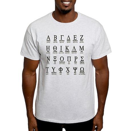 Greek Alphabet Light T-Shirt