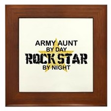 ARMY Aunt Rock Star by Night Framed Tile