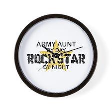 ARMY Aunt Rock Star by Night Wall Clock