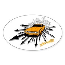 Burnout!!!! Oval Decal