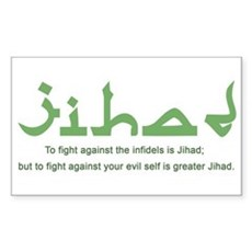 Jihad Rectangle Sticker