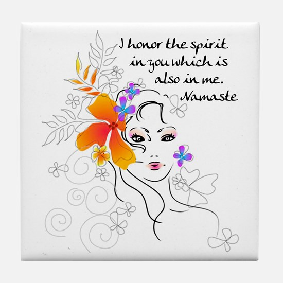 Namaste Tile Coaster