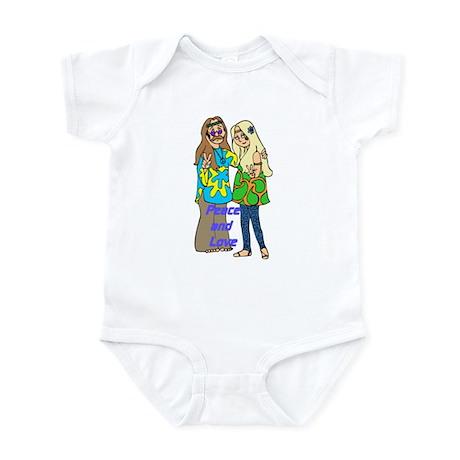 Peace & Love Hippies Infant Bodysuit