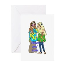 Peace & Love Hippies Greeting Card