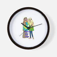 Peace & Love Hippies Wall Clock