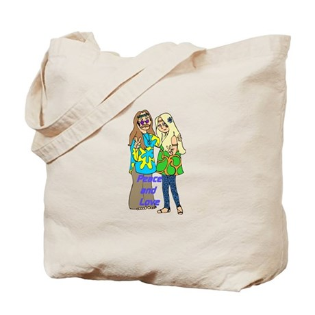 Peace & Love Hippies Tote Bag