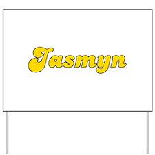 Retro Jasmyn (Gold) Yard Sign