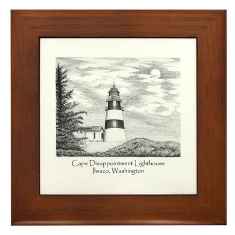 Cape Disappointment Framed Tile