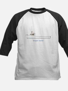 Tangier Island Deadrise Boat Kids Baseball Jersey