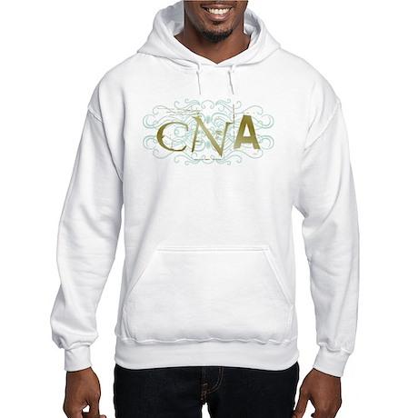 CNA Intricate Grunge Graphic Hooded Sweatshirt