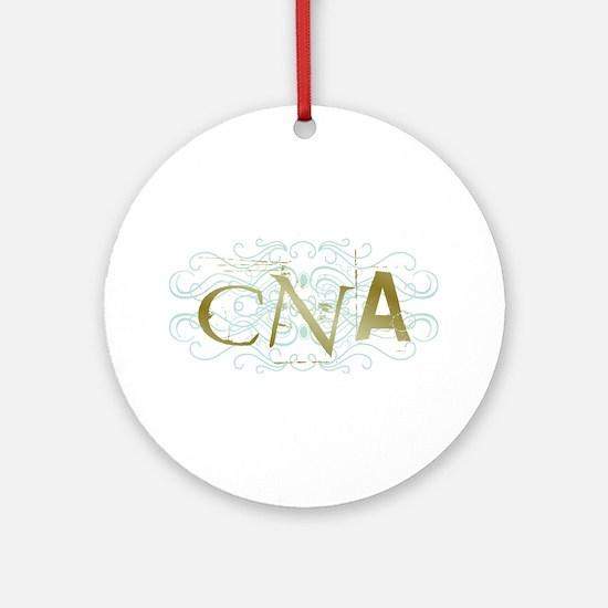 CNA Intricate Grunge Graphic Ornament (Round)
