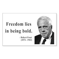 Robert Frost 2 Rectangle Decal