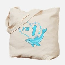 Dolphin Heart First Birthday Tote Bag