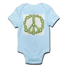 Green Recycle Peace Infant Bodysuit