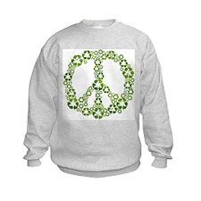 Green Recycle Peace Sweatshirt