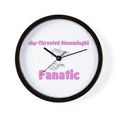 Ruby-Throated Hummingbird Fanatic Wall Clock
