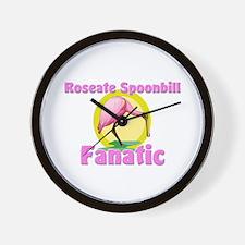 Roseate Spoonbill Fanatic Wall Clock