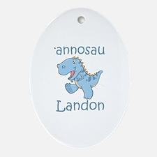 Tyrannosaurus Landon Oval Ornament