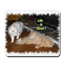 Life is Good - Persian Cats Mousepad
