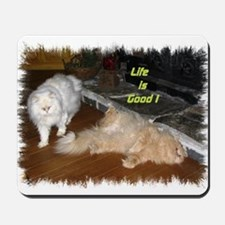 Life is Good - Persian Cats Mousepad