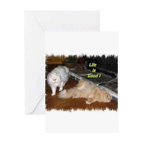 Life is Good - Persian Cats Greeting Card