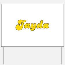 Retro Jayda (Gold) Yard Sign