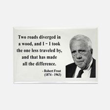 Robert Frost 1 Rectangle Magnet