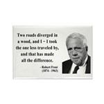 Robert Frost 1 Rectangle Magnet (100 pack)