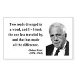 Robert Frost 1 Rectangle Sticker