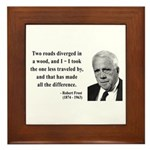 Robert Frost 1 Framed Tile