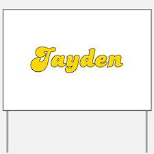 Retro Jayden (Gold) Yard Sign