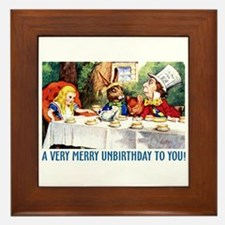A Very Merry Unbirthday! Framed Tile