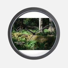 Deep in the Forest Wall Clock
