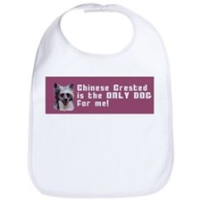 Chinese Crested Only Dog for Bib
