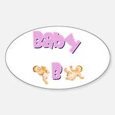 Baby B (Girl) Oval Decal