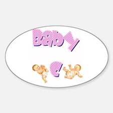 Baby C (Girl) Oval Decal