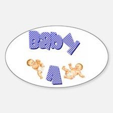 Baby A (Boy) Oval Decal