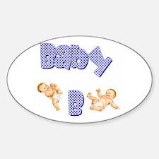 Baby B (Boy) Oval Decal