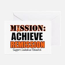 Mission Remission Leukemia Greeting Cards (Pk of 1