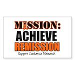 Mission Remission Leukemia Rectangle Sticker 10 p
