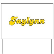 Retro Jaylynn (Gold) Yard Sign
