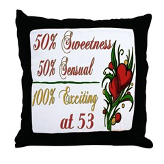 Exciting 53rd Throw Pillow