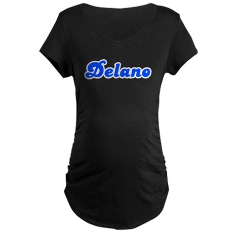 Retro Delano (Blue) Maternity Dark T-Shirt