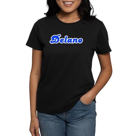 Retro Delano (Blue) Women's Dark T-Shirt