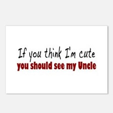 If you think I'm cute Uncle Postcards (Package of
