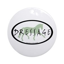 Trot Oval Brush Text (green) Ornament (Round)