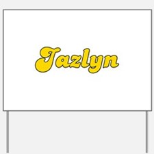 Retro Jazlyn (Gold) Yard Sign