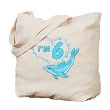 Dolphin Heart 6th Birthday Tote Bag